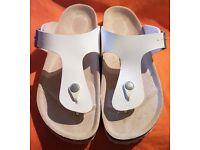 Birkenstock Ramses White Thong Sandals Size UK 7.5 EU 40 US 9.5