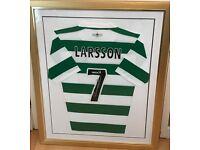 Signed Henrik Larsson jersey Celtic FC