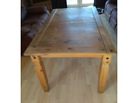 Corona Mexican Solid Pine Large Dining Table - 5ft