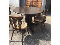 ** ERCOL PEDESTAL TABLE & 4 CHAIRS - CAN DELIVER **