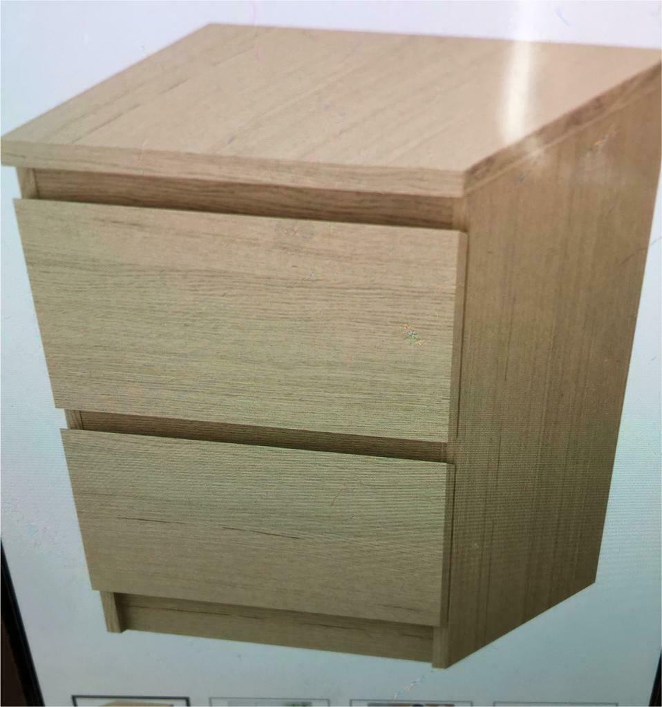 Ikea Malm Bedside Table White Stained Oak Veneer In Bannockburn Stirling Gumtree