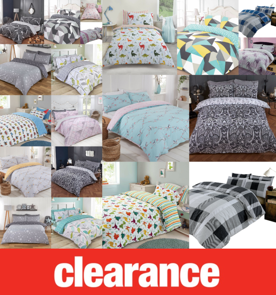 Clearance Bedding @ Great Prices - Duvet Quilt Cover Bed Set