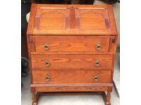 Medium solid oak bureau