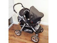 Baby pram 3in1 + Car Seat + carrycot + stroller + pushchair + Buggy + Travel System