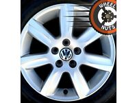 "15"" Genuine VW Polo alloys 5x100 excel cond match tyres."