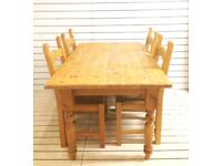 Solid Pine Farmhouse Table (no chairs)