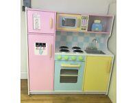 Kidkraft wooden toy play kitchen (pastel)
