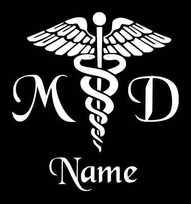 - Personalized Caduceus Snake Medical Emblem Vinyl Decal Sticker MD Doctor Yeti
