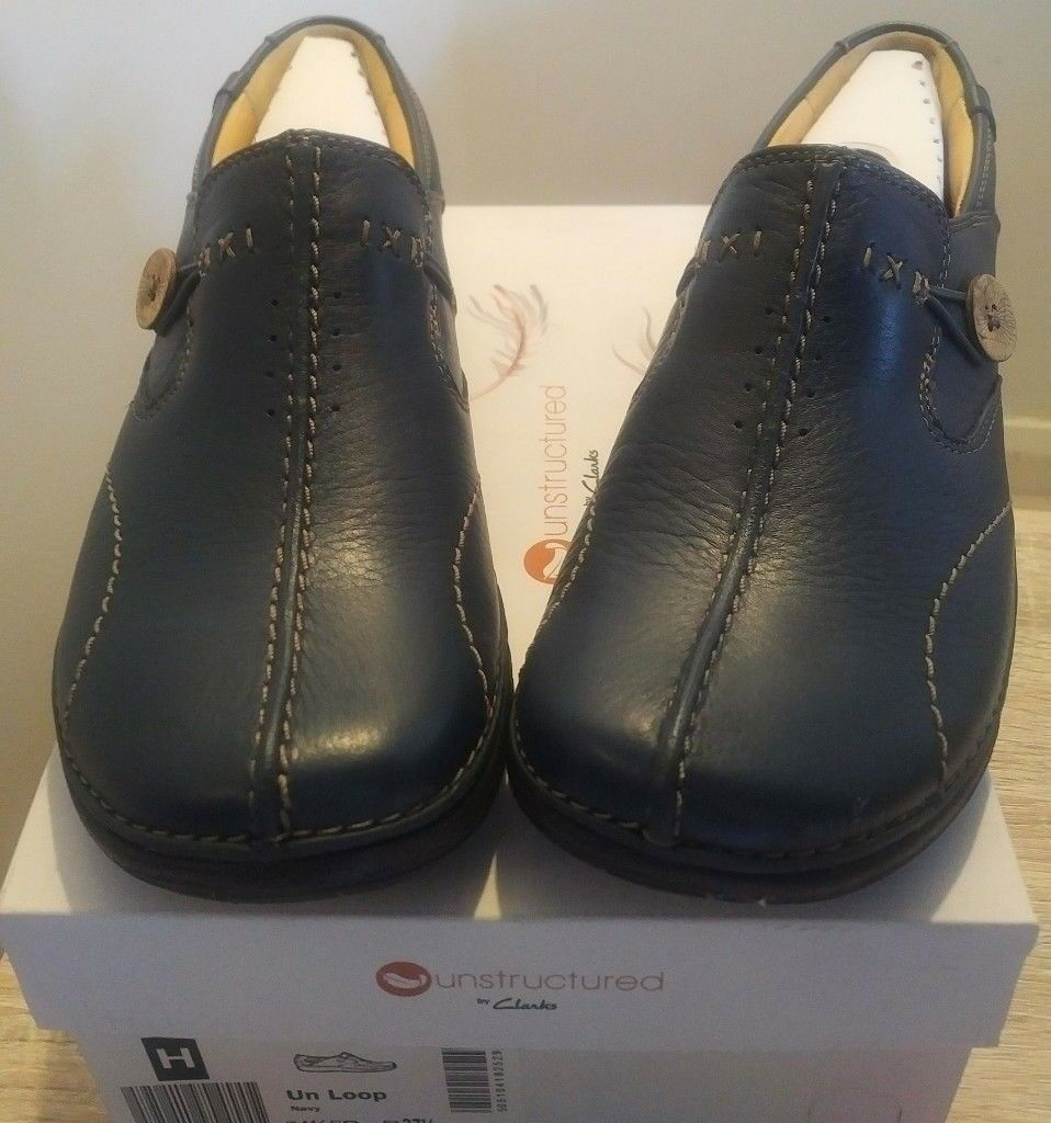 8e6903f47ee4 BOXED NEW Clarks Un Loop leather loafers women s ladies nurse shoes