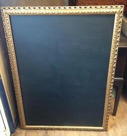 Large Ornate Framed Chalkboard Handmade