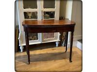 Antique 19th Century Mahogany Fold Over Tea Table