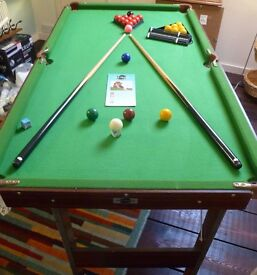 4'6 folding snooker/pool table - only £25 BUT MUST BE COLLECTED THIS WEEKEND