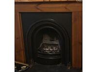 Original Arched Victorian Cast Iron Insert