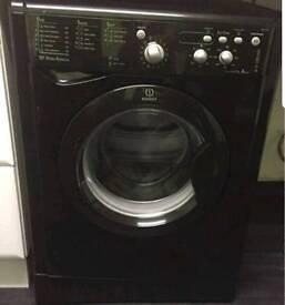 black indesit 7kg washing machine