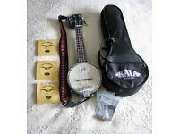 Kala Soprano Banjolele KA-BNJ-BK-S with original Kala Bag