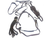 Seven (7) Pieces of Leather Driving Harness. Size-Pony