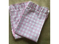 Lovely Next pink & white heart curtains
