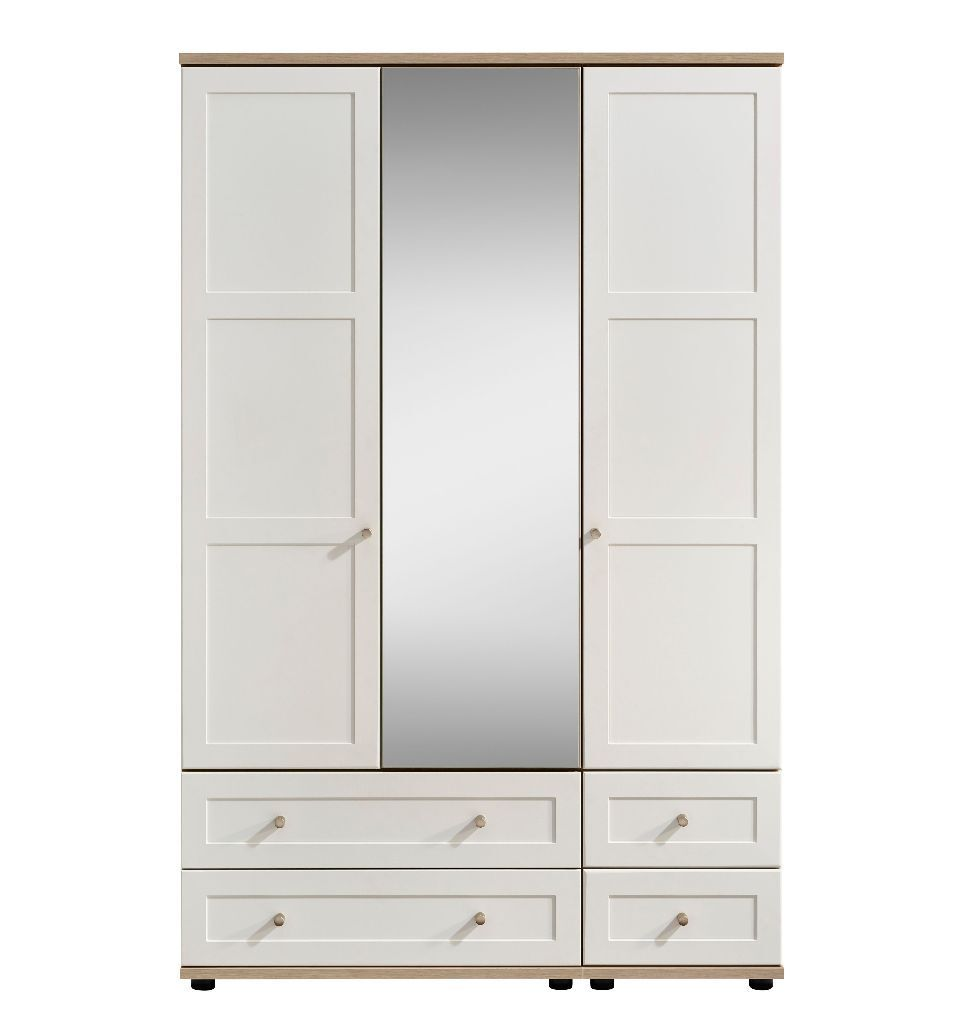 Darcey oak white door drawer mirror wardrobe new