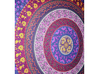 Gorgeous Indian circle of flowers wall hanging/throw