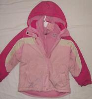 Size 7/8 Girls TCP Pink Coat with removable Fleece Liner Jakcet