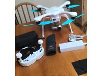Ghost Drone 4K and includes real time VR Goggles. Brand new.