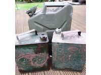 VINTAGE ESSO AND SHELL PETROL CANS
