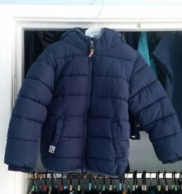 Next Boys Padded Coat Age 3-4 Navy Blue