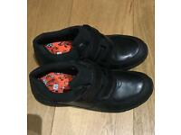 Clarks Boys Brand New Black School Shoes Size 5F.