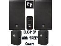 2x Electro Voice ELX 15P+ Covers