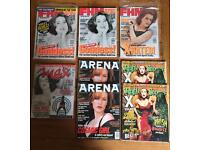 Gillian Anderson in FHM, Max, Rolling Stone, Hotshots, Dreamwatch, Arena, Radio Times magazines