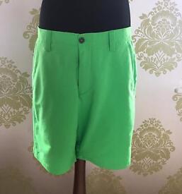 Brand New Under Armour Men's Golf Shorts, 34 Inch Wrist, Green