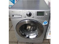 LG Direct Drive 9kg silver washing machine 1400 spin £100 good condition