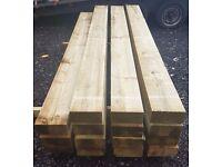 Pressure Treated Timber Railway Sleepers 2.4m x 200mm x 100mm