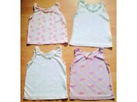 4 Assorted Child Girl Sleeveless Cami Vest Tops.Age 2-3.