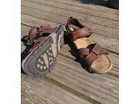 Mens leather sandals UK 8