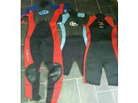 Various Wetsuits