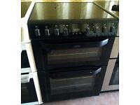 BELLING Black 60cm double electric cooker