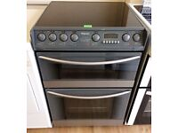 HOTPOINT Grey, 60cm, 2 Oven, Halogen, Fan ELECTRIC COOKER + 3 Month Guarantee + FREE LOCAL DELIVERY