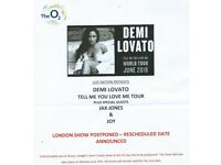 2 seated tickets for Demi Lovato 25/06 - O2 London