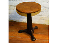 Singer antique industrial factory stool oak seating chair swivel vintage retro kitchen desk seating