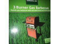 Brand new in box 3 burner gas BBQ