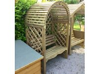 Chadwell Garden Arbour. New. Flatpack. Tanalised. PICK UP TODAY.