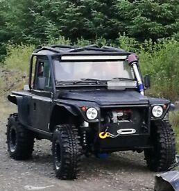 Land rover defender off roader