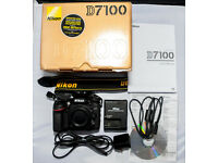 Nikon D7100 DSLR Camera (no lens included), Charger, USB Cable, Manual & Disc - £375