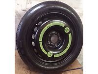5x112 space saver spare wheel for Mercedes, VW, AUDI