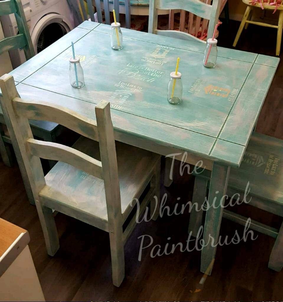 Shabby Chic Beach Themed Dining Room Set In Plymouth Devon Gumtree