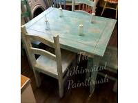 Shabby chic beach themed dining room set