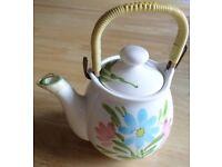 Saki Hand Painted Bambo Tea Pot From Japan