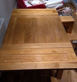 Solid Oak Dining Table (seats 6)