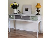 Stunning Vintage 1980's Stag Sideboard or Desk - Hand Painted Shabby Chic.